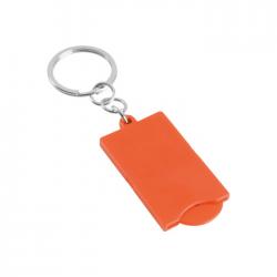 Portachiavi con disco in plastica per carrello spesa Coin