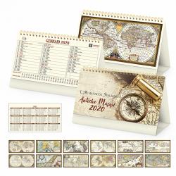Antiche Mappe - Calendario Spiralato Da Tavolo