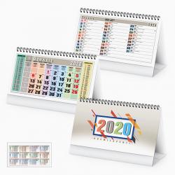 Calendario Da Tavolo Multicolor - Spiralato Tavolo